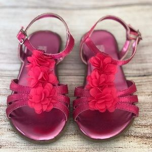 Little Girls Kenneth Cole Floral Fuchsia Sandals
